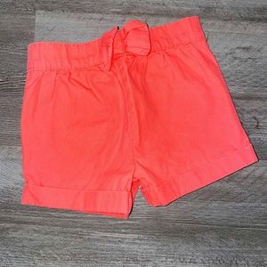 Girl's Garanimals Coral Rolled Bow shorts 18M